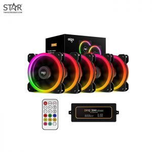 Fan Case Aigo DR12 3IN1 12cm RGB Kit 5 Fan (Hub + Remote)