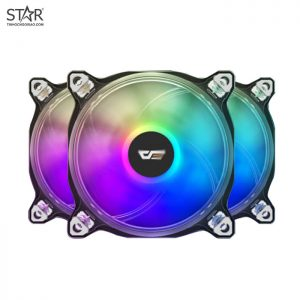 Fan Case Darkflash CF8 Pro RGB 12cm Pack 3 Fan (Hub + Remote)