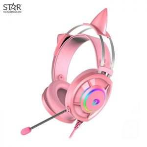 Tai Nghe Dare-U EH469 7.1 Surround Gaming RGB (Hồng)