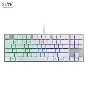 Cooler Master SK630 MX Cherry Low Profile Red Switch RGB TKL White Limited Edition