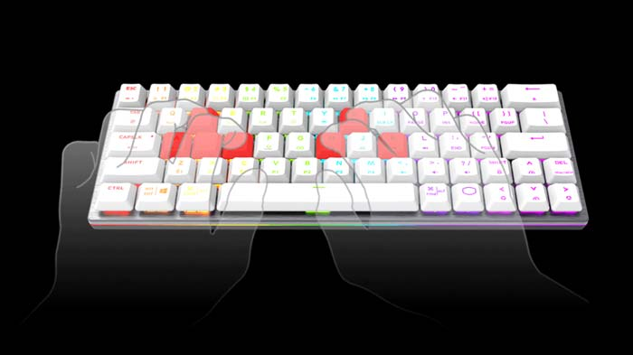 Cooler Master SK622 Silver White Low Profile Red Switch RGB TKL Wireless